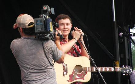 Scotty McCreery on Stage at Lake Benson Park in Garner NC
